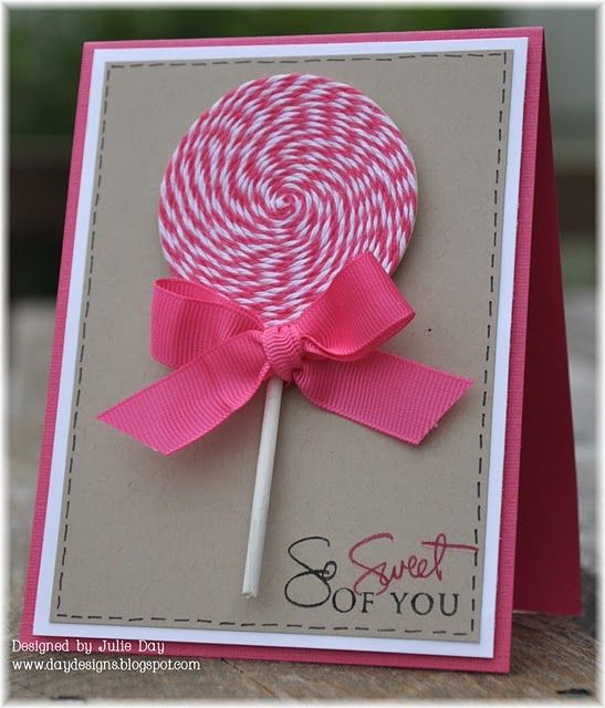 Sweet card creation using baker's twine from the Twinery!