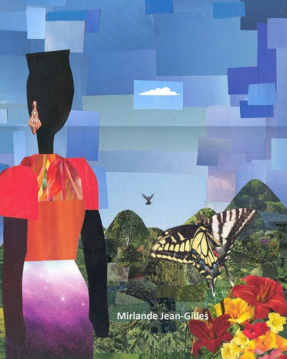 Woman and Butterfly-Collage