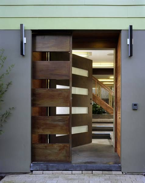 Modern designer external door home interior decorating for Big main door designs