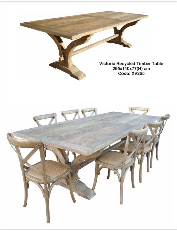 Victoria Recycled Timber Table
