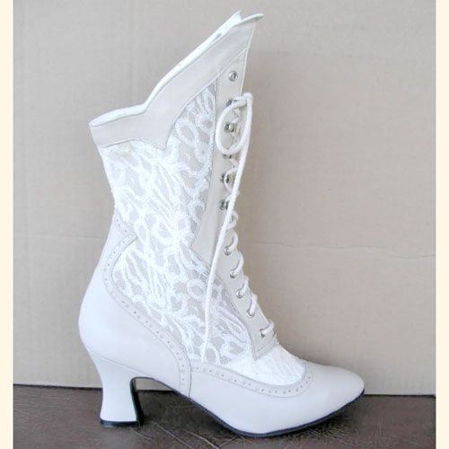 Image Detail For - Victorian White Wedding Boots - Bridal Boot - The Best Shoes | Wedding Ideas ...