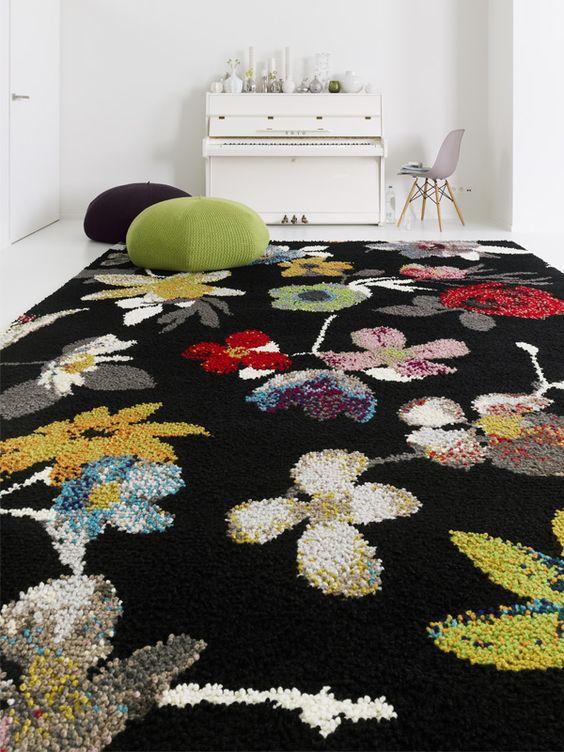 Wool Rug BEIRAS by Casalis #rug #interiors #flower