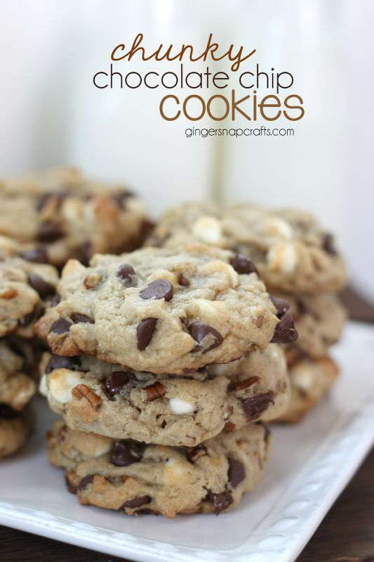 Recipe for chunky chocolate chip cookies