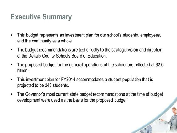 Image result for executive summary budget presentation Ok Iu0027m - executive summary template for report