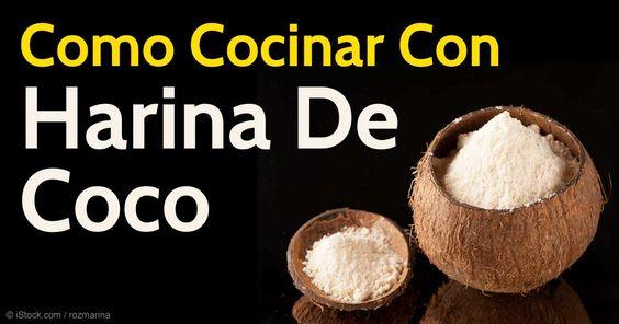La harina de coco es libre de gluten, alta en fibra y proteína, bajar en carbohidratos almidonados y proporciona y fuente de grasas saludables. http://articulos.mercola.com/sitios/articulos/archivo/2015/11/05/como-cocinar-con-aceite-de-coco.aspx
