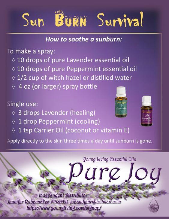 Essential Oils for a Sun Burn