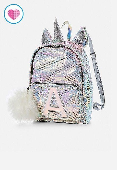 "NEW Unicorn Pink Flip Sequins 16/"" School Bag Tote Adjustable Straps Backpack"