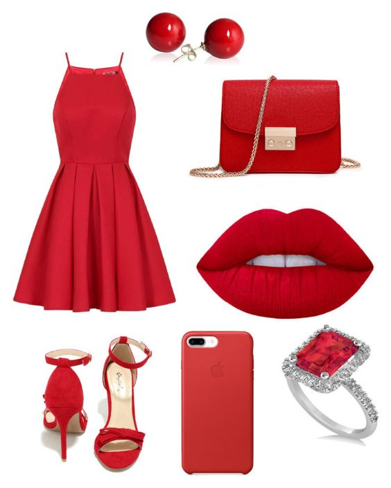 """""""Red Velvet❤"""" by thaliavalenzuela ❤ liked on Polyvore featuring Qupid, Chi Chi and Allurez"""