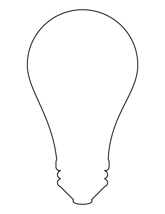 printable light bulb pattern use the pattern for crafts creating stencils scrapbooking and. Black Bedroom Furniture Sets. Home Design Ideas