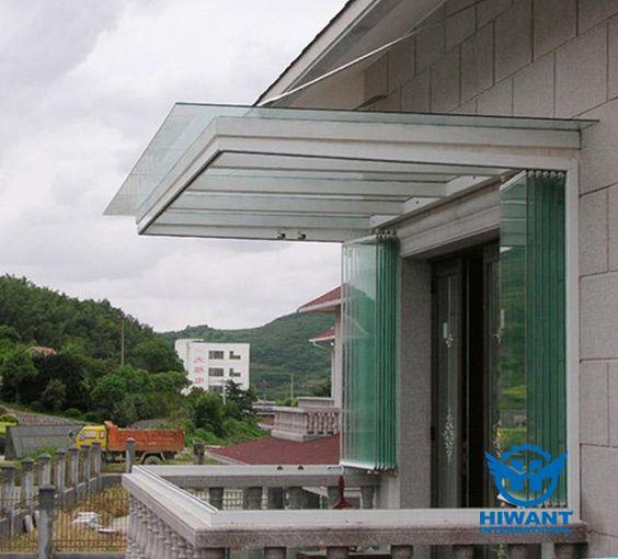 Hiwant aluminium alloy windows, rimless aluminium profile folding-sliding windows for balcony.