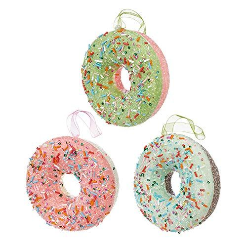 Raz Imports 4 5 Donut Ornament 3 Assortment 3916167 Donut Ornament Ornament Set Christmas Ornament Sets