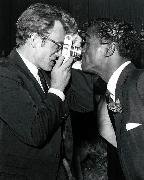 Sammy Davis and James Dean