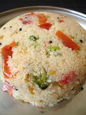 Upma can be eaten any time of day, but we ate it often for breakfast.
