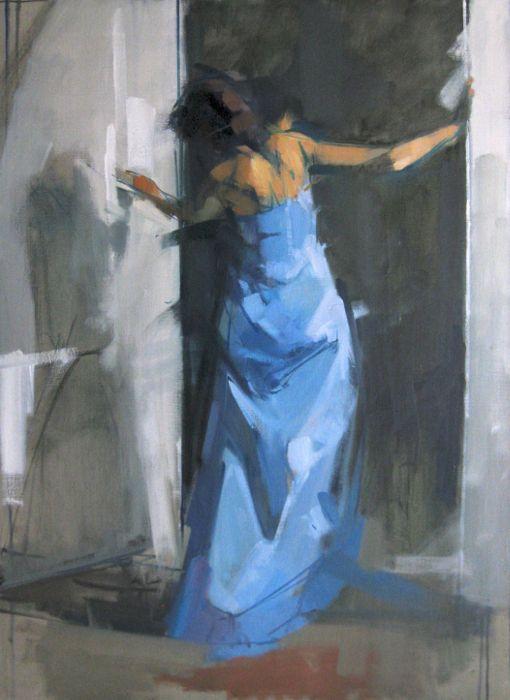 Wb Doorway Figure Painting Artwork Painting Painting