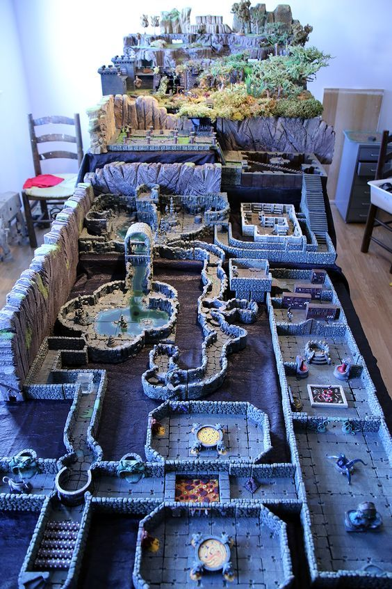 Dwarven FOrge Huge Table with 10 levels