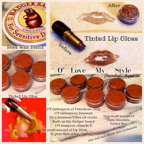 O'Love My Style Lip Gloss Recipe....simple easy and moist! From pinecreekstyle.blogspot.com