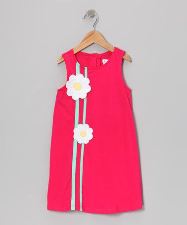 Take a look at this Fuchsia Daisy A-Line Dress - Girls by Gidget Loves Milo on #zulily today!