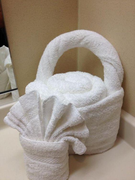 30 Creative Towel Origami Diys Creative Origami And Baskets