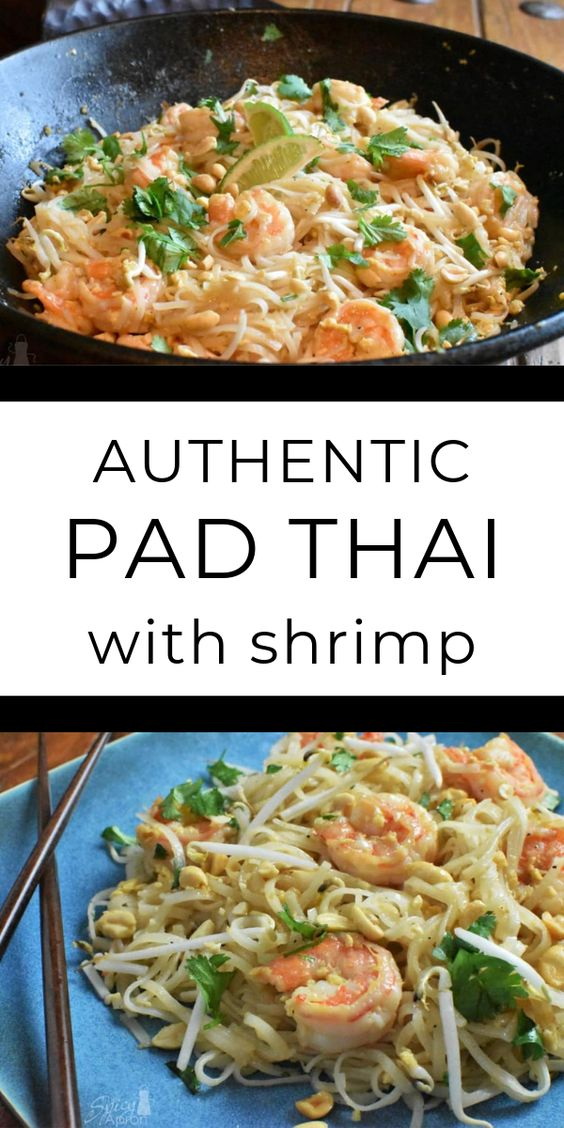 Authentic Pad Thai With Shrimp