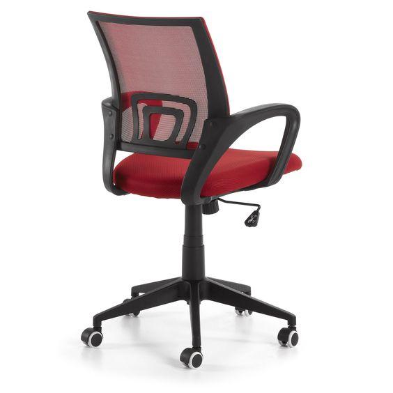 RAIL Chaise Bureau Struc. Noir Tissu