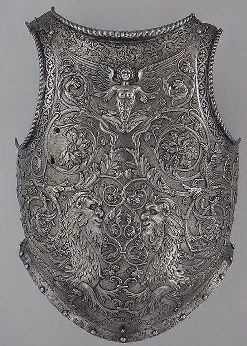 Breastplace, 1540-45, Italian: