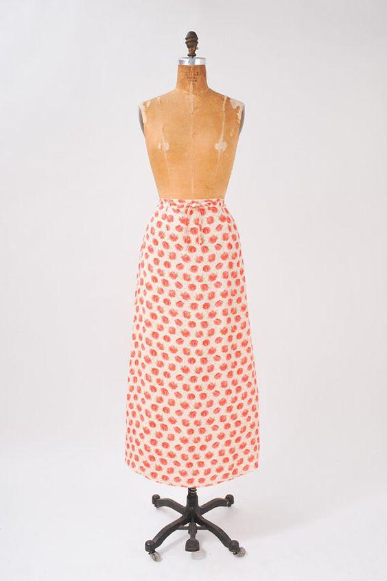 Pink Rose Skirt by missfarfalla on Etsy, $38.00