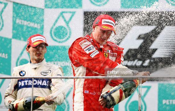Robert Kubica na podium GP Malezji