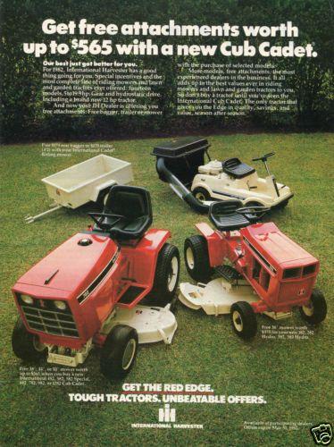 782 Cub Cadet Garden Tractor : International harvester ih cub cadet lawn