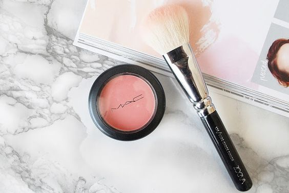 Mac makeup powder blush is everything! So pigmented and pretty!