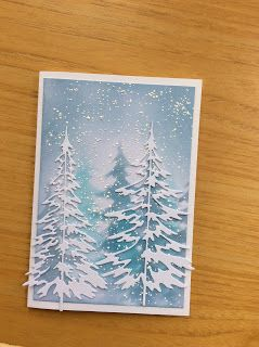 Just Messing With Stuff: I've made a few Christmas cards to give me a head…