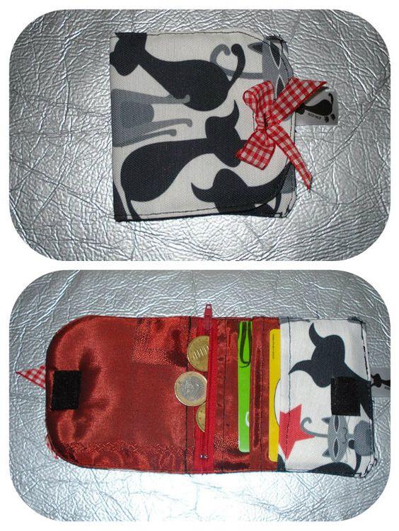 Cartera tarjetero hecho a mano Producto Español Puedes encontrarlo en www.lascosasdeglori.es