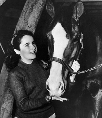 """Elizabeth Taylor - with performances in """"Lassie Come Home"""" and """"National Velvet"""" in the 1940s."""