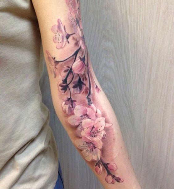 Des fleurs de cerisier sur le bras - Cosmopolitan.fr                                                                                                                                                      Plus