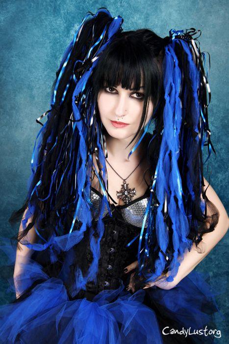 #Cybergoth, #Cyberpunk all good in black and blue