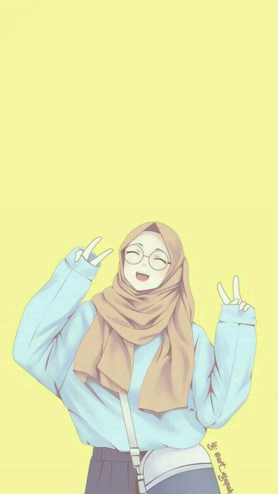خلفيات بنات محجبات كرتون Islamic Cartoon Anime Muslim Hijab Cartoon