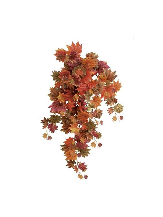 MAPLE planta colgante artifial en colores otoñales, perfectas para decorar la terraza o balcón en www.villafiore.es por 23.00€