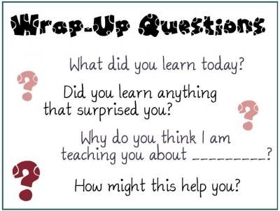 Wrap-Up Questions Poster from MsJordanReads on TeachersNotebook.com -  (1 page)