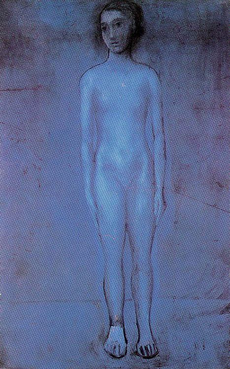 """""""Standing Young Nude"""", 1904, Pablo Picasso."""