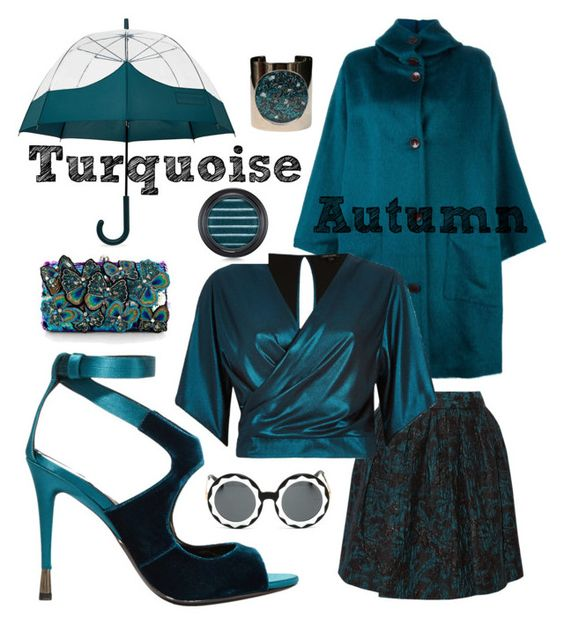 """Turquoise"" by roseuniquestyle ❤ liked on Polyvore featuring Hunter, DuÅ¡an, Alice + Olivia, River Island, Accessorize, Tom Ford, Markus Lupfer and MAC Cosmetics"