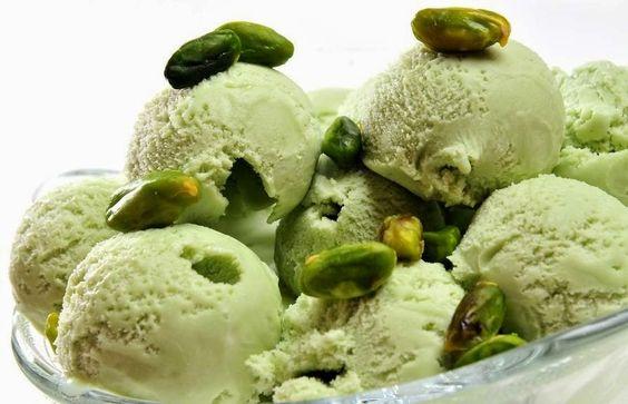 Varomeando helado de pistacho