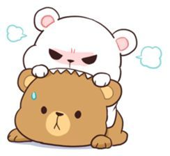 Bear Couple Milk Mocha Sticker 12265841 Cute Bear Drawings Cute Doodles Cute Love Cartoons