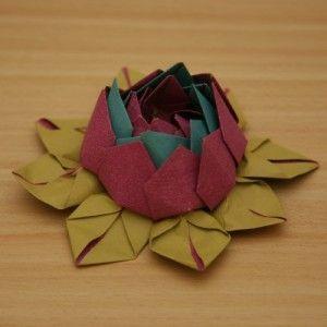 Lotusblume aus Papier Der Bau einer Blüte dauert ca. 1/2 Stunde.