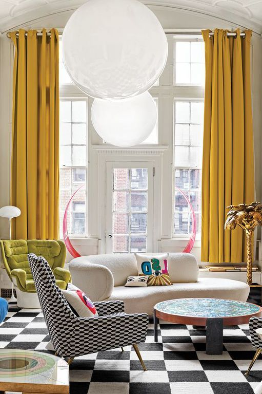 These Mustard Yellow Rooms Will Revitalize Your Life Living Room