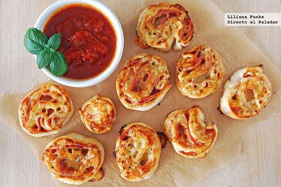Bocados enrollados de pizza