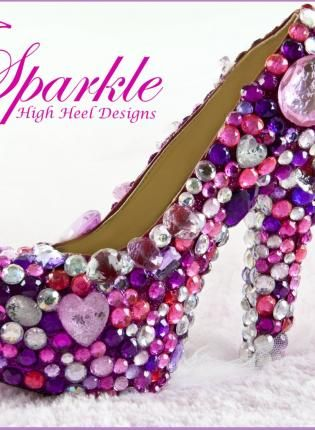 SPARKLE Custom High Heel Pump, Shoes, diamonds rhinestones pink ...