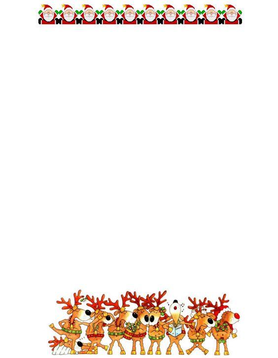 Free christmas tmplates free christmas letterheadfree printable christmas letterhead 9 for Free santa stationary