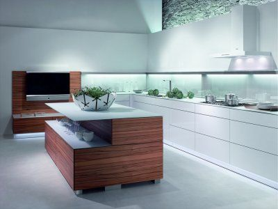 L-Küche weiß mit Kücheninsel und Tineo-Holz    wwwkuechen - warendorf küchen preise