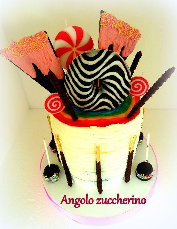 Torta di compleanno ragazza raimbow cake