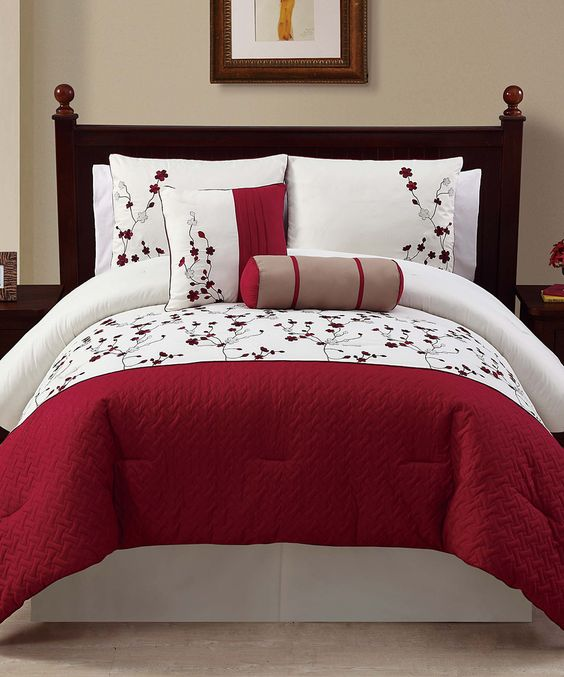 Another great find on #zulily! Red Sadie Comforter Set by Victoria Classics #zulilyfinds