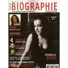 Biographie Magazine N° 01 : Romy Schneider, Yannick Noah, Marcel ...
